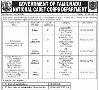 tn-govt-ncc-department-oa-driver-stores-attd-boat-helper-posts-recruitment-notification-tngovernmentjobs-in