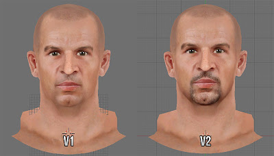 NBA 2K13 Jason Kidd Cyberface v1 and v2 Comparison
