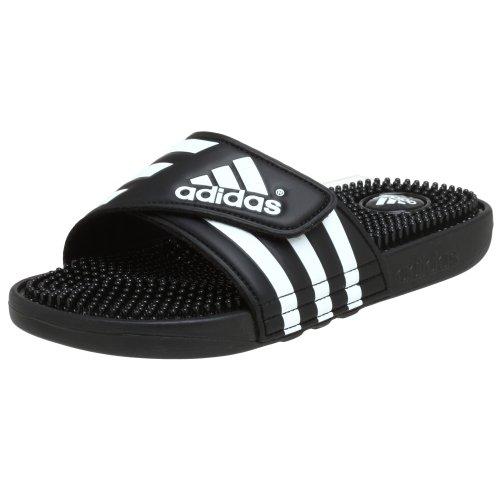 f1c04e6ec964 Adidas Men s Adissage Black White Slides