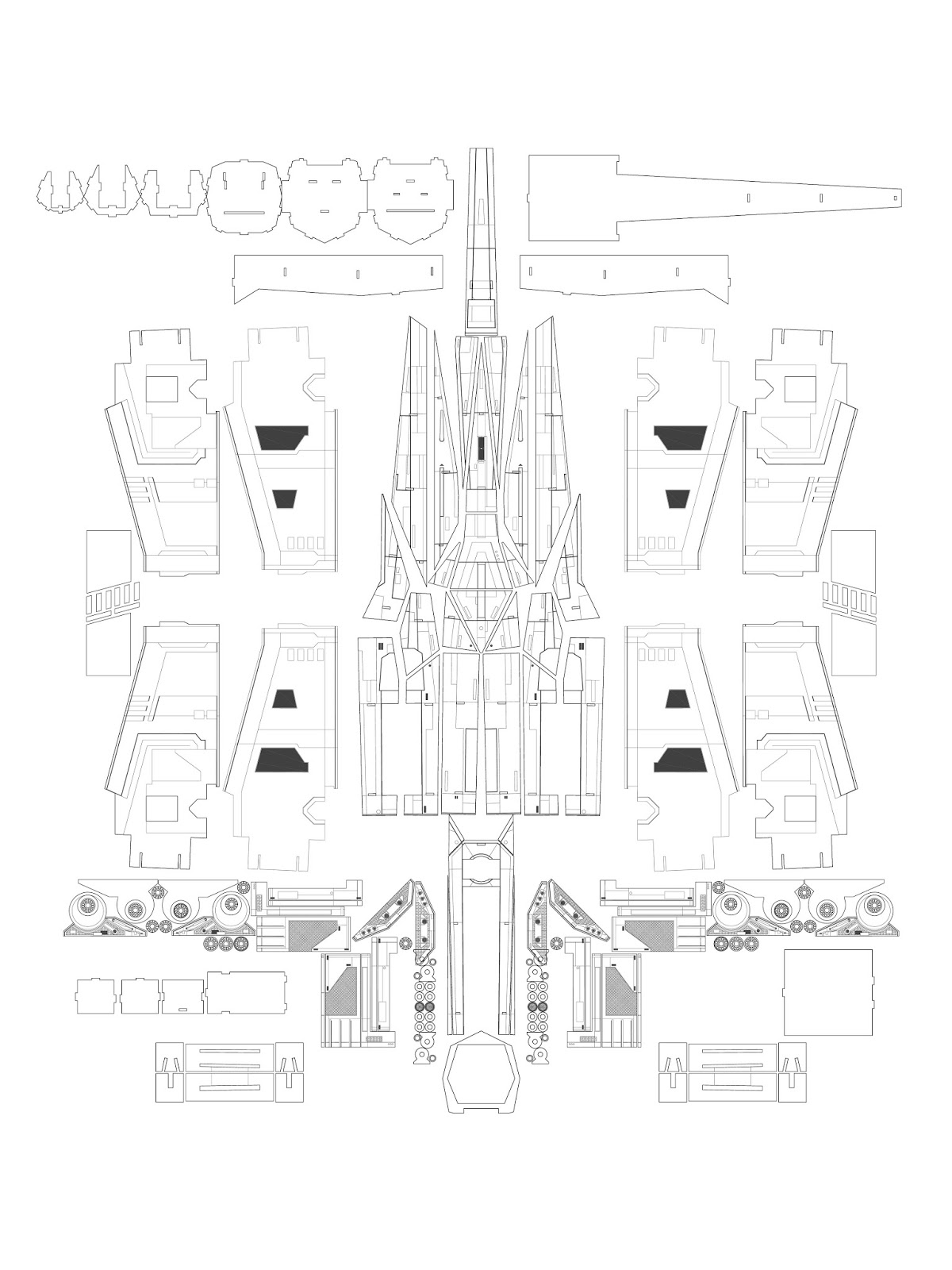 Customtecture X Wing Schematics