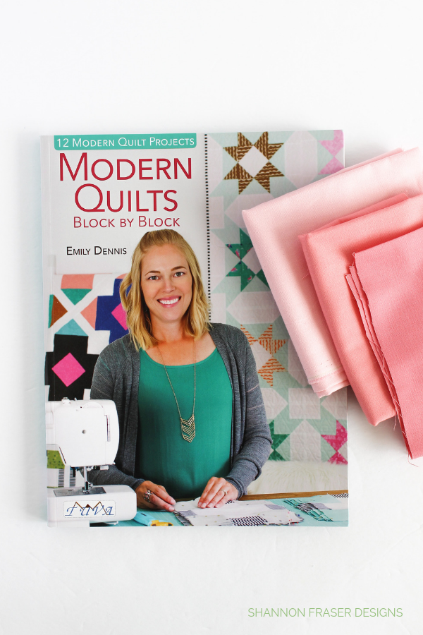 Fabrics + book review | Modern Quilts Block by Block book by Emily Dennis | Shannon Fraser Designs