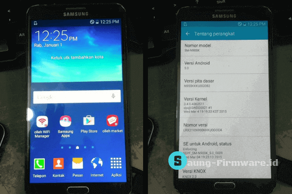 Firmware Samsung Note 3 LTE N900K Lollipop Tested