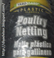 This poultry plastic netting is what was used to keep brushed standing up