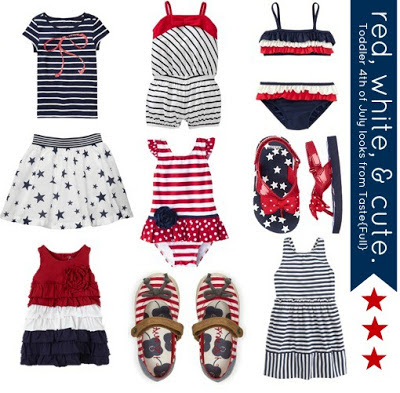 red, white, and blue for girls