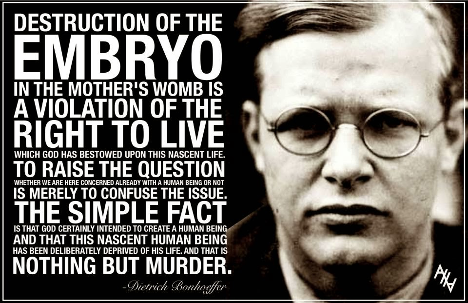 Pro Life Quotes Awesome Detachment 48 DIETRICH BONHOEFFER'S PROLIFE QUOTE [PRO LIFE QUOTE]