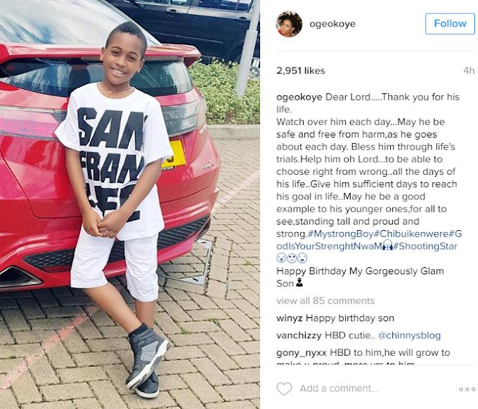 Oge Okoye celebrates her son as he turns 10