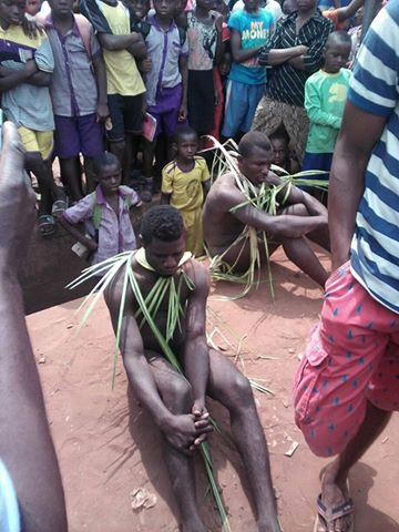 Rapists/thieves caught and stripped unclad at market place (Photos)