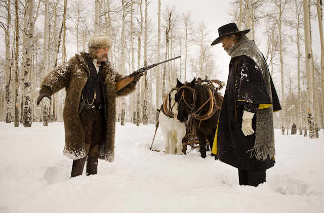 der cineast Filmblog The Hateful 8 Kurt Russell und Samuel L. Jackson