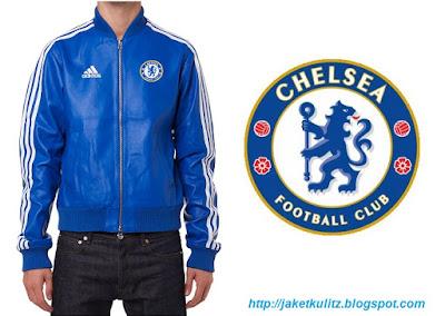 Gambar Jaket Kulit Chelsea Adidas Warna Biru