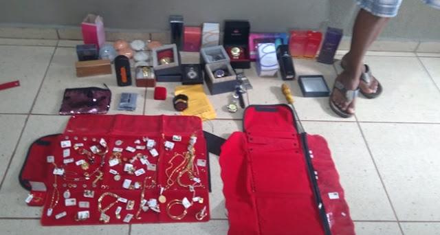 Iretama: Polícia prende suspeito de arrombar e furtar joalheria