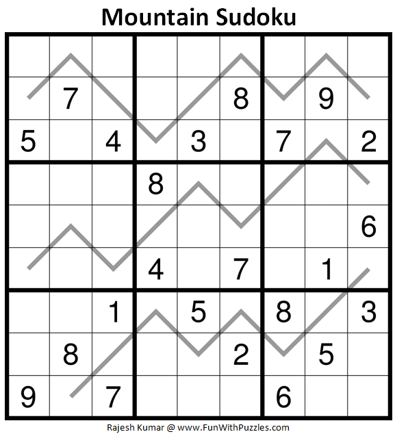 Mountain Sudoku Puzzle (Daily Sudoku League #219)