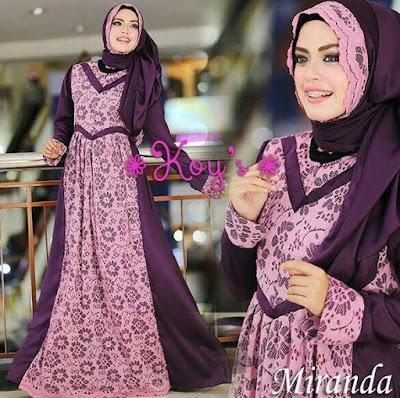 Model Baju Muslim Syar'i Bahan Brokat Terbaru