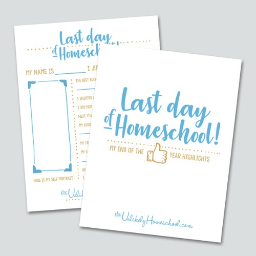 Last Day of Homeschool Interview Printable #homeschool #homeschooling