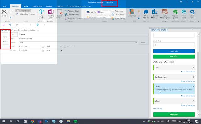 The AskCody Plug-ins (for Outlook 2010) can now change an appointment to a meeting in Outlook  - NEW