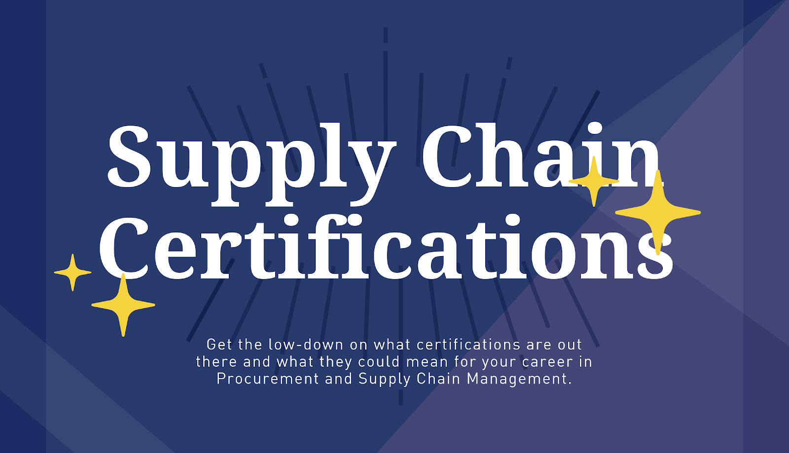 4 Supply Chain Certifications To Take You To The Next Level The