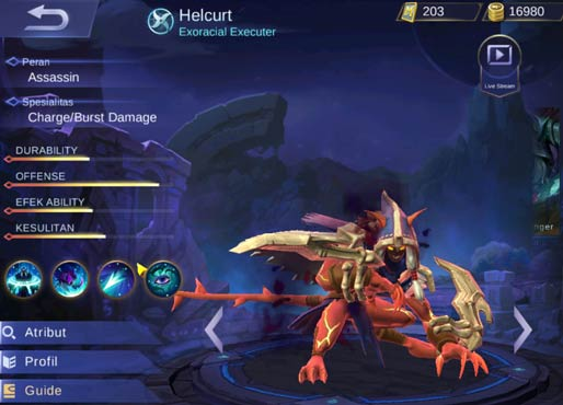 Skin Terbaru Helcurt Mobile Legends