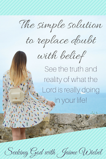Wonder, doubt, and fear are all a part of the process of putting our trust in Christ more while stacking them up against the truth and evidence He has displayed in our lives.  When those thoughts creep in, we can replace them with the truth of what we know to be true of God.  When time, circumstances, and feelings make us weary we can hand them over to Him for the same encouragement He gave to Thomas. Here is the proof. Stop doubting and believe.