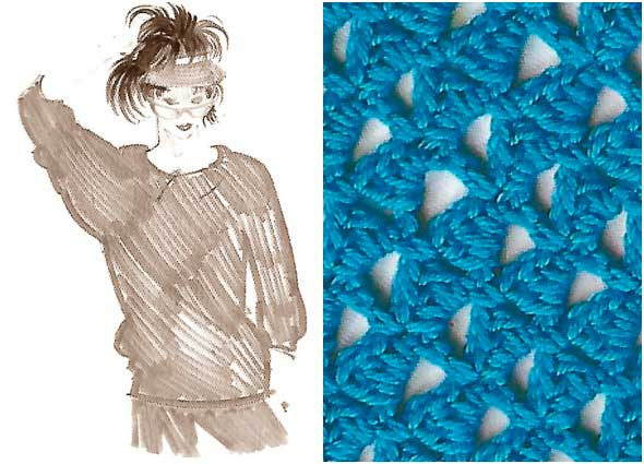 puntos, motivos, crochet, ganchillo, instrucciones, tejer