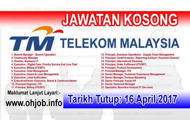 Jawatan Kerja Kosong TM - Telekom Malaysia logo www.ohjob.info april 2017