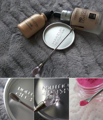 [Recenzja] Dwie przydatne pierdółki, których używam przy większości manicure - szczoteczka i łyżeczko-mieszadełko :)
