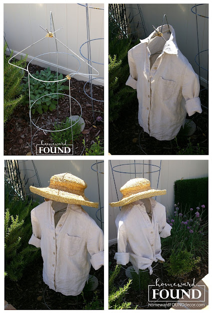tutorial, garden, outdoors, backyard, upcycled, thrifted, tomato cage, garden art, junking, junk makeover, summer projects, wire mannequin