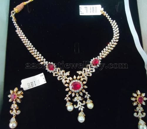 Dazzling Indian Diamond Set Jewellery Designs