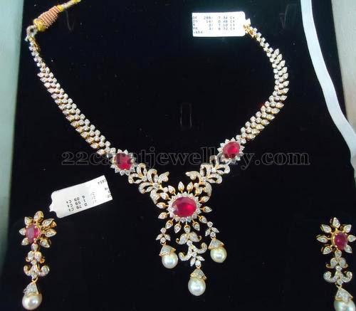 Dazzling Indian Diamond Set Jewellery Designs