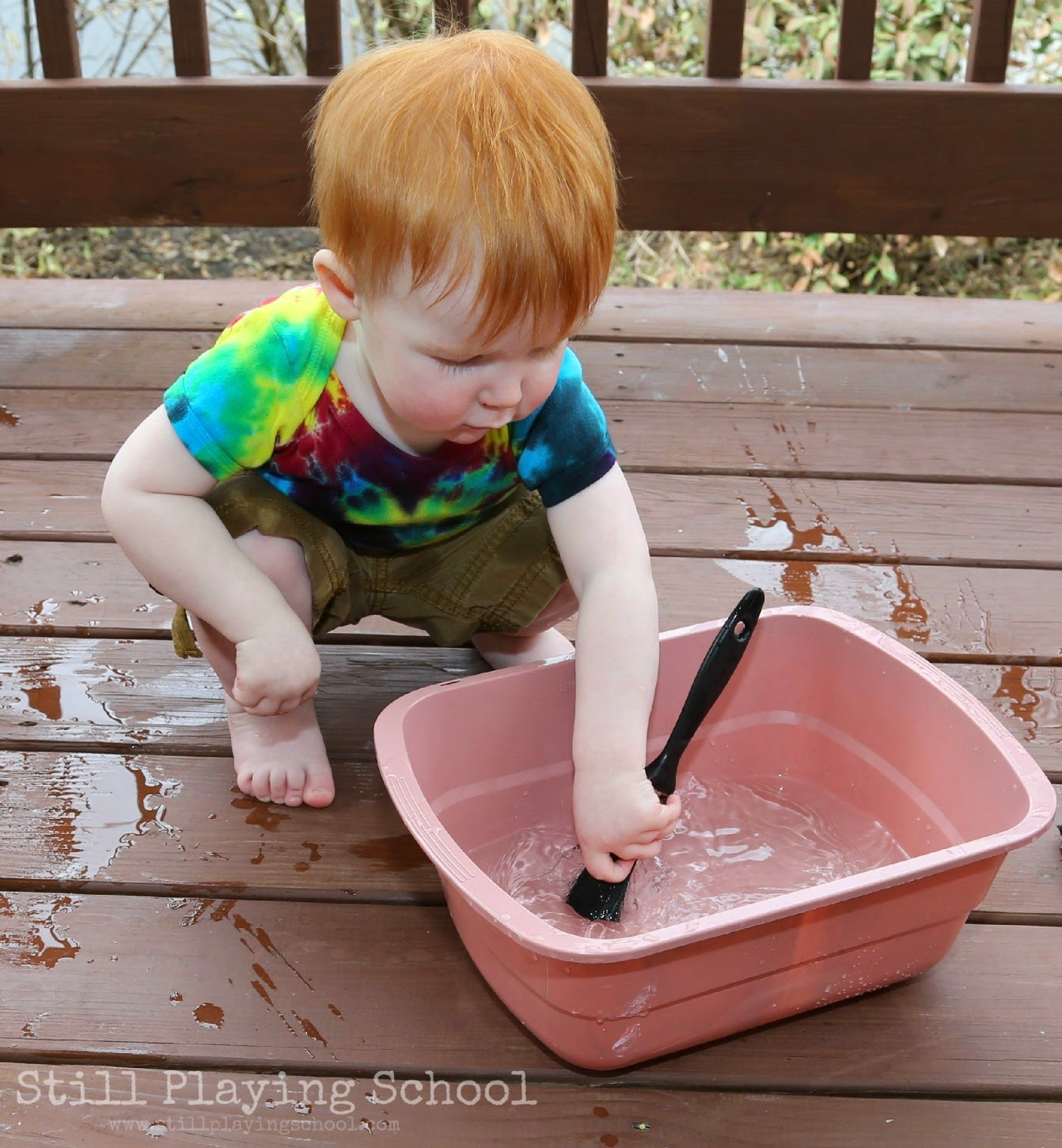 Outside Water Painting For Kids Still Playing School