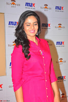 Sree Mukhi in Pink Kurti looks beautiful at Meet and Greet Session at Max Store (35).JPG