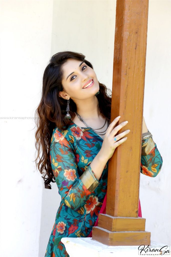 Beautiful Indian Girl Surabhi Photoshoot in Blue Dress