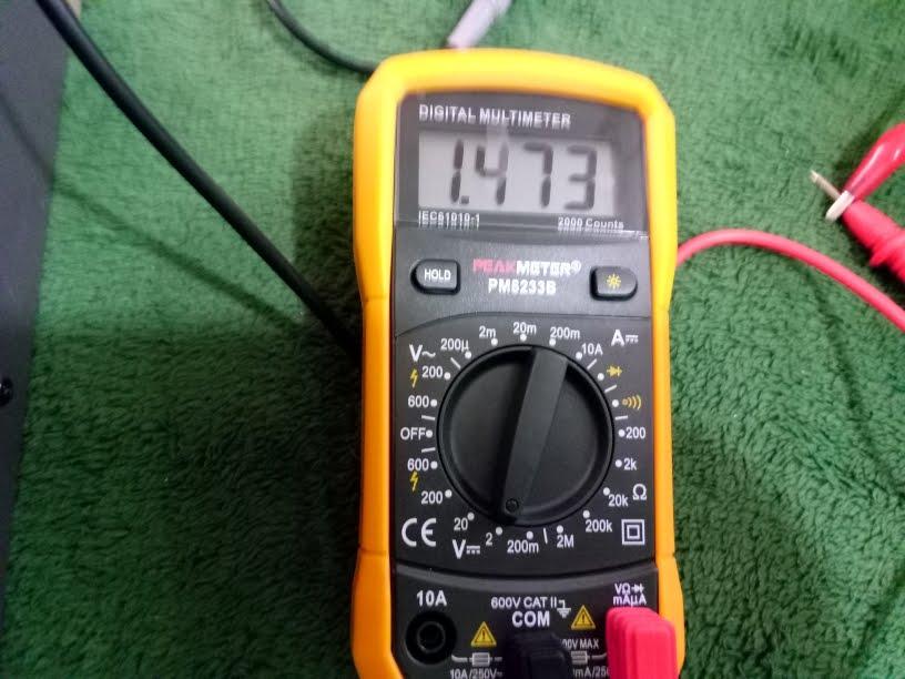 Aidbucks PM8233B Digital Multimeter AC-DC Voltage Tester 600V-10A