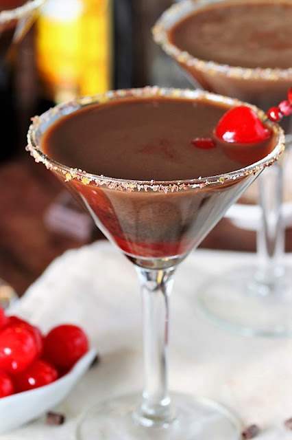 Chocolate Covered Cherry Martinis picture