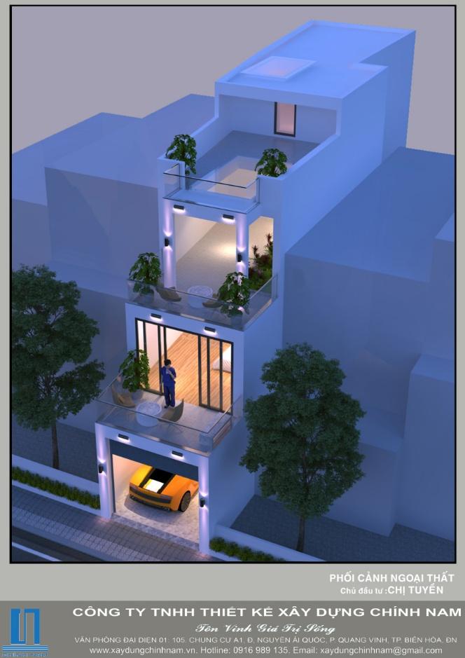 Thiết kế và xây nhà trọn gói nhà Ông bà Kang ở Biên Hòa