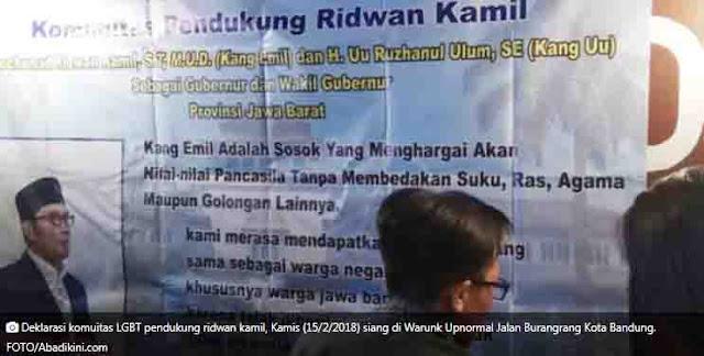 Komunitas LGBT Bandung Dukung Ridwan Kamil Dipilkada Jabar