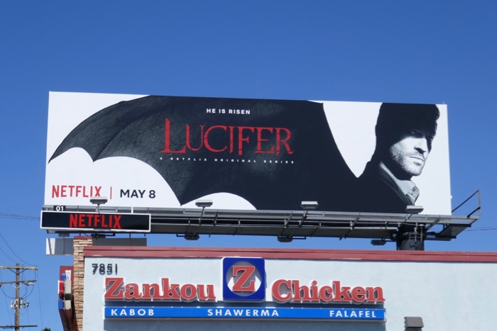 Lucifer season 4 Netflix billboard