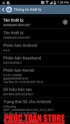 Tiếng Việt và unlocked Samsung I337 4.4.2 alt