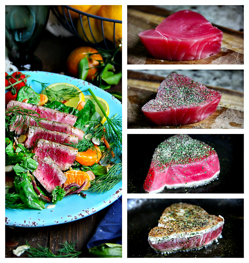 Ahi Tuna Salad #recipe
