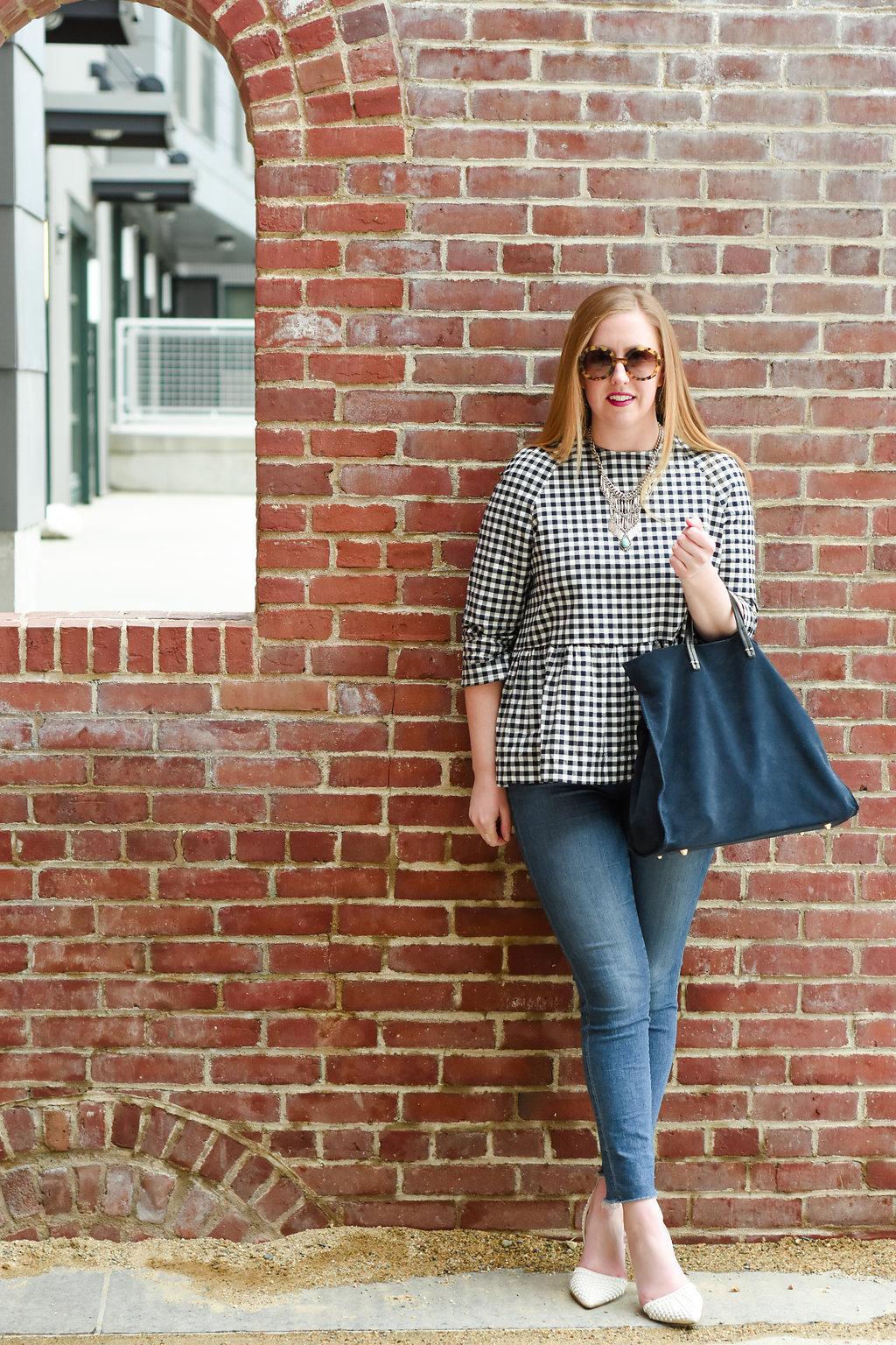 target victoria beckham boston; boston target style blogger; gingham spring style; boston spring style; boston bloggers spring;
