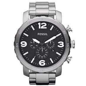 Relogio Masculino Analogico Fossil FJR1353Z Prata 5232942 - Você sabia que relógios sempre marcam a mesma hora nos anúncios?