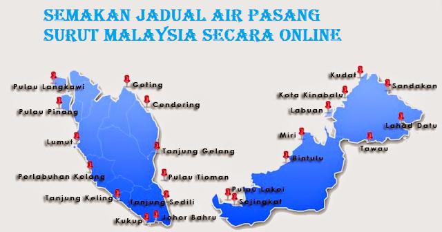 Jadual Air Pasang Surut Malaysia Secara Online