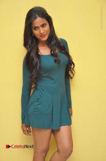 Telugu Actress Prasanthi Stills in Green Short Dress at Swachh Hyderabad Cricket Press Meet  0043.JPG