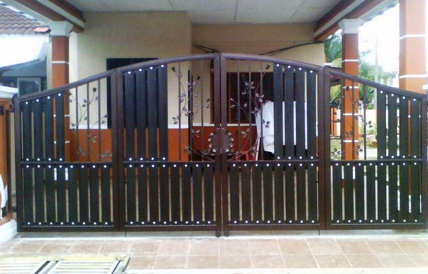 Pintu Gerbang (Pagar) Besi Minimalis Sederhana