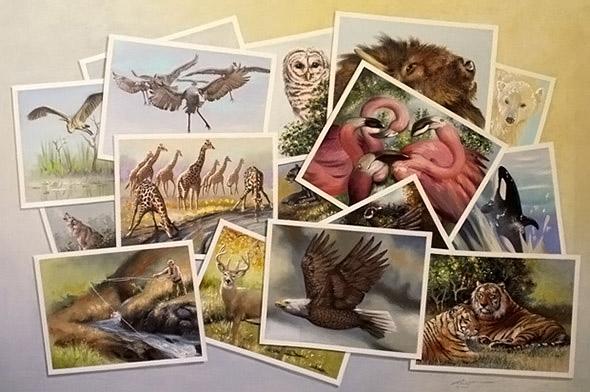 Çeşitli hayvan fotoğraflarından oluşan gizli aslan resmi