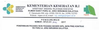 Lowongan Kerja Non PNS Rumah Sakit Paru RSP dr.Ario Wirawan