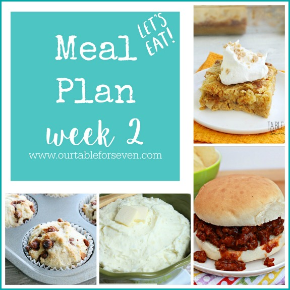 Meal Plan:Week 2