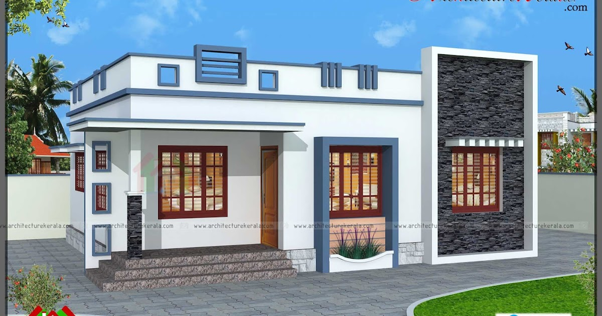 760 square feet 3 bedroom house plan architecture kerala for 3 bedroom plan in kerala
