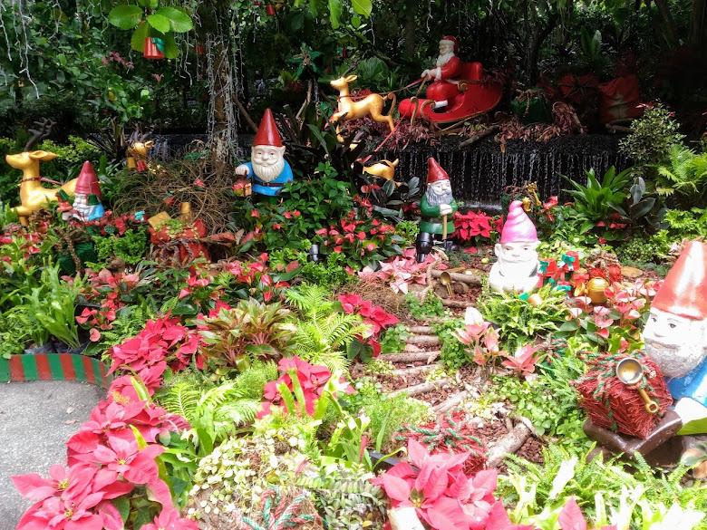 新加坡植物園,已經開始為耶誕假期做準備