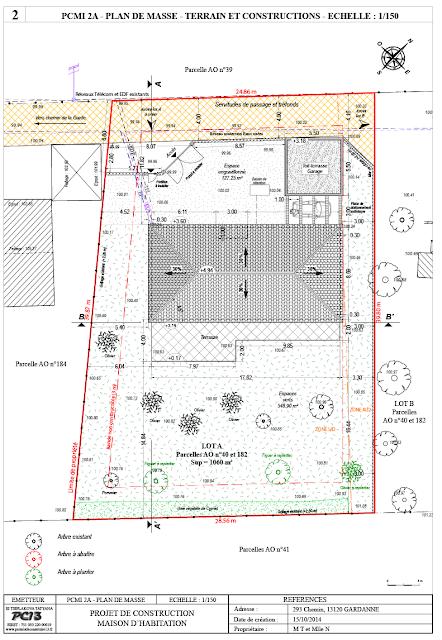 Permis de construire 13 composition d 39 un dossier de for Plan de masse maison individuelle