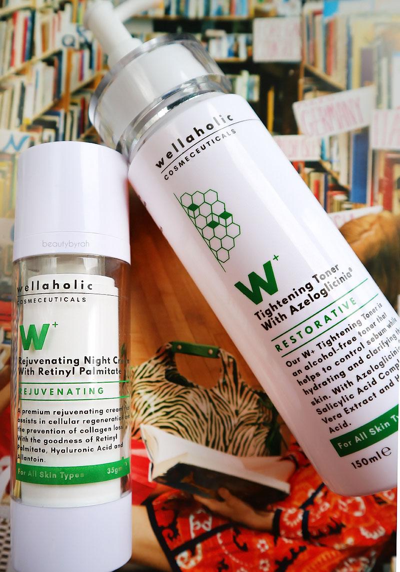 Wellaholic Cosmeceuticals Tightening Toner and Rejuvenating Moisturiser review