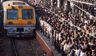 Local train rush in peak hours